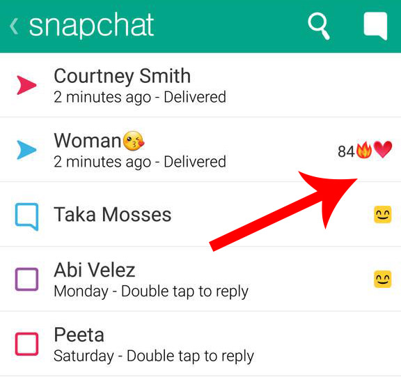 Red Heart on Snapchat Mean